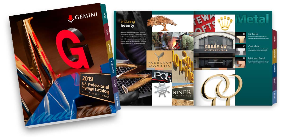 Professional Letter Signage products | Gemini 2019